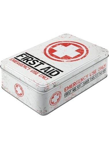 Nostalgic Art First Aid Kit Yatay Teneke Saklama Kutusu Renkli